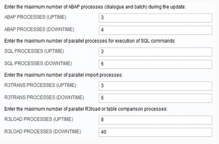 Parallel process option in SUM
